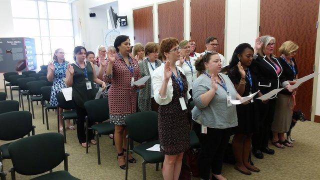 Swearing in Ceremony for volunteers
