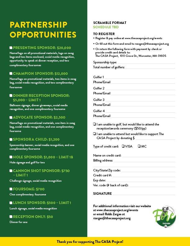 Sponsorship package P2